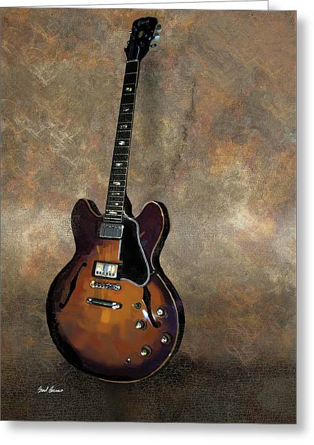 Gibson 335 Vintage Greeting Card by Brad Burns