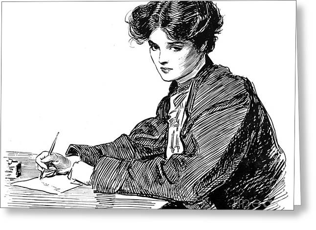 Gibson: Drawings, C1900 Greeting Card by Granger