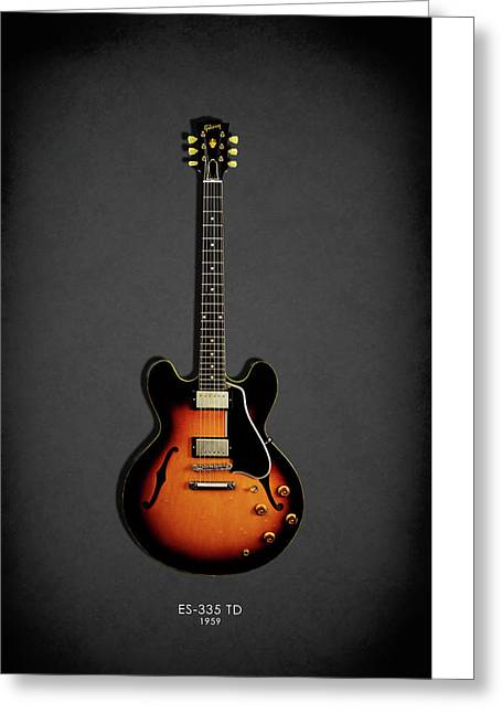 Rock N Roll Photographs Greeting Cards - Gibson ES 335 1959 Greeting Card by Mark Rogan