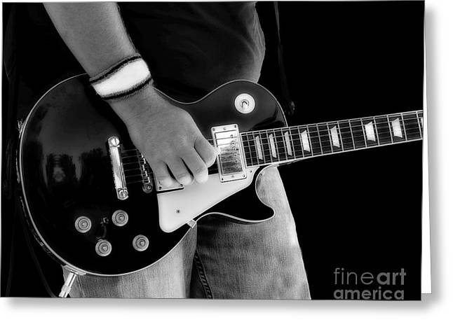 Gibson Les Paul Guitar  Greeting Card by Randy Steele