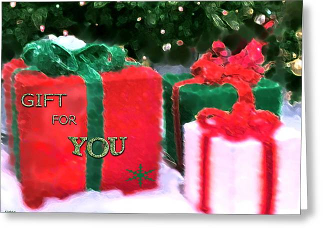 Present For You Greeting Cards - Gift For You Greeting Card by Debra     Vatalaro