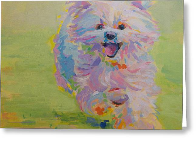 White Dogs Greeting Cards - Gigi Greeting Card by Kimberly Santini