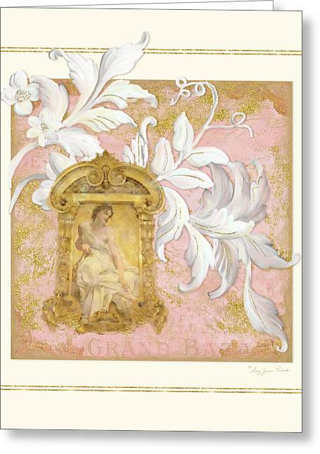 Gilded Age I - Baroque Rococo Palace Ceiling Inspired  Greeting Card by Audrey Jeanne Roberts