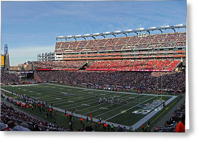 Gillette Stadium Panorama Greeting Card by Juergen Roth
