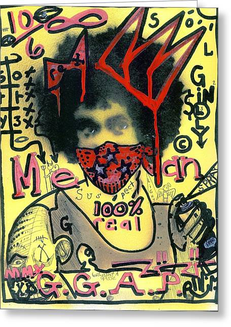 Live Mixed Media Greeting Cards - Gillys Got A Posse Greeting Card by Robert Wolverton Jr