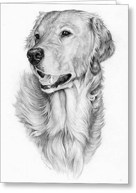 Ginger Greeting Card by Laurie McGinley