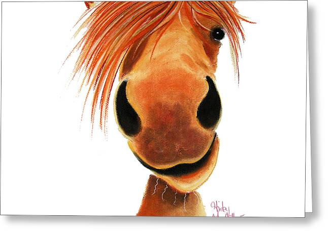 Pony Pastels Greeting Cards - Ginger Nut Greeting Card by Shirley MacArthur