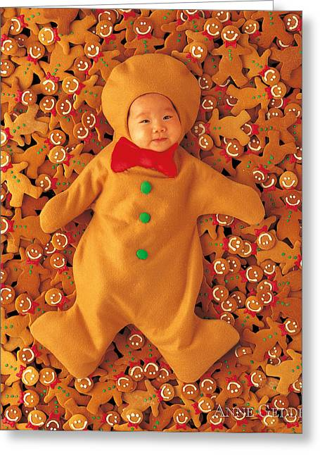 Until Now Greeting Cards - Gingerbreads Greeting Card by Anne Geddes