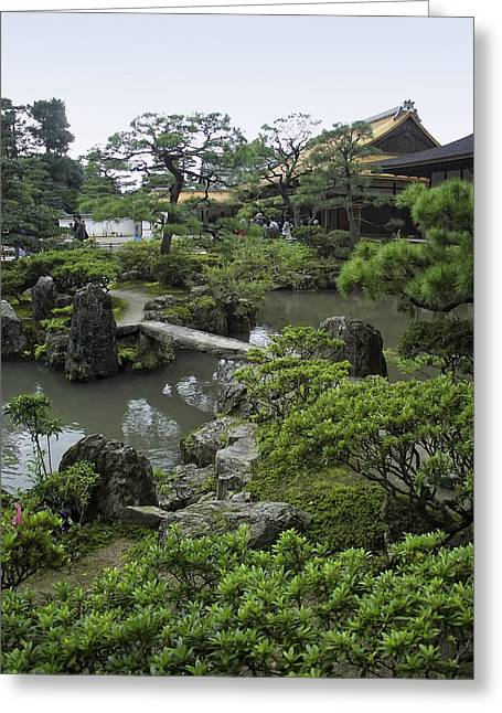 Shogun Photographs Greeting Cards - Ginkaku-ji Zen Temple - Kyoto Japan Greeting Card by Daniel Hagerman