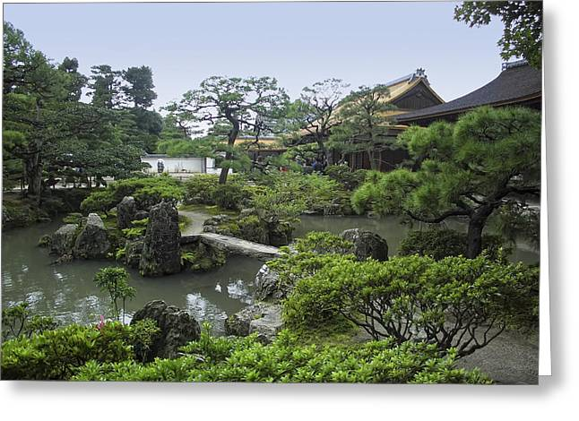 Shogun Photographs Greeting Cards - Ginkaku-ji Zen Temple No. 1 - Kyoto Japan Greeting Card by Daniel Hagerman