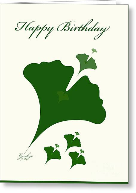 Flower Design Greeting Cards - Ginkgo Greeting Card by Johannes Murat