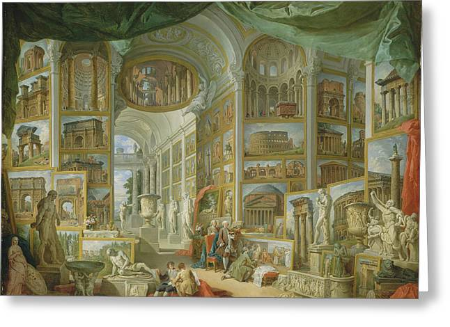 Giovanni Paolo Panini Greeting Card by MotionAge Designs