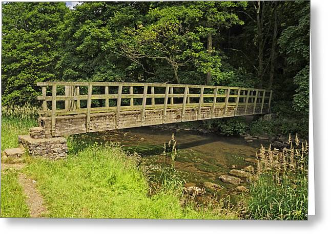 Stepping Stones Greeting Cards - Gipsy Bank Bridge - Wolfscote Dale Greeting Card by Rod Johnson