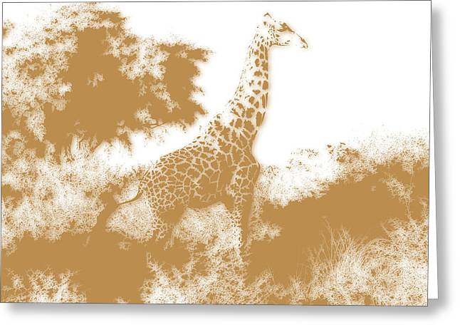 Mount Kilimanjaro National Park Greeting Cards - Giraffe 2 Greeting Card by Joe Hamilton