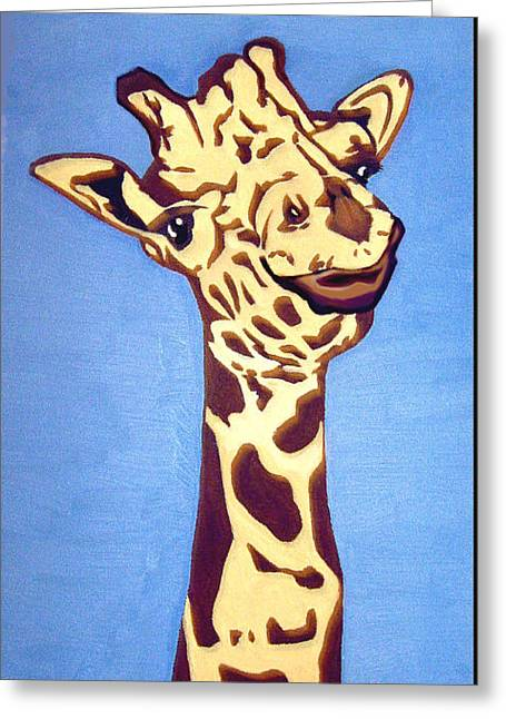 Giraffe Greeting Card by Darren Stein
