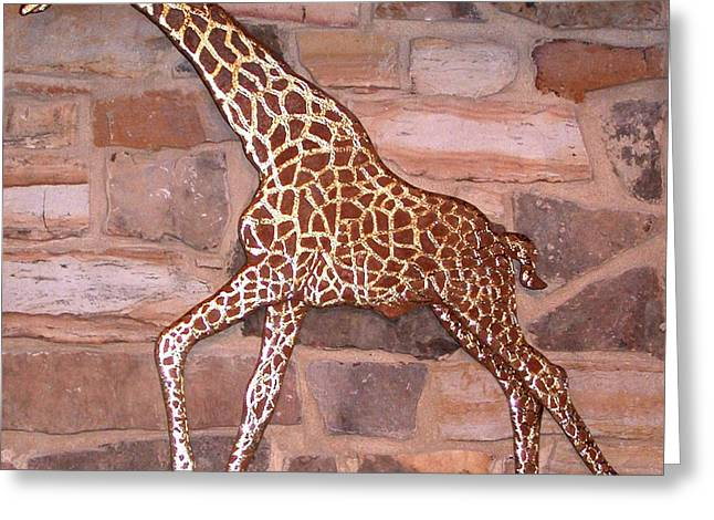 Steel Sculptures Greeting Cards - Giraffe Greeting Card by Hans Droog