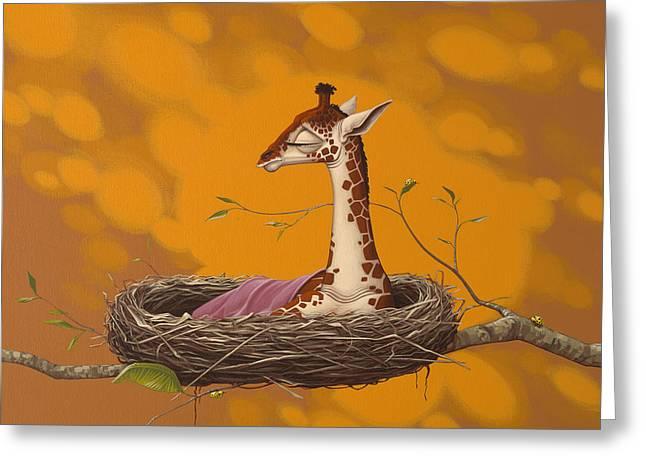 Giraffe Greeting Card by Jasper Oostland