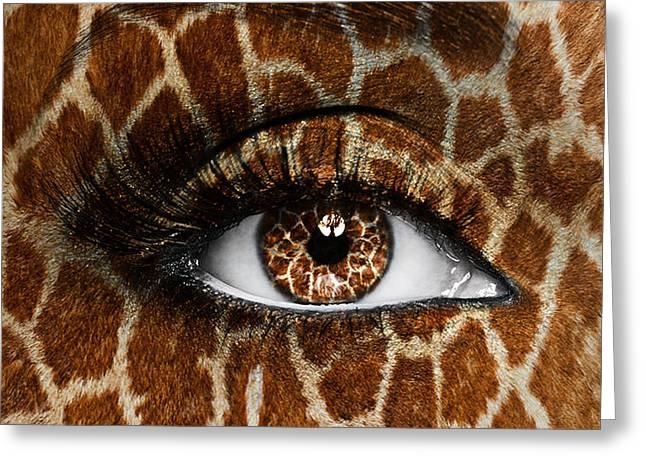 Giraffe Greeting Card by Yosi Cupano