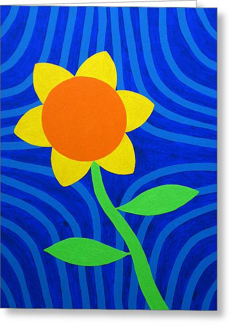 Girasol Greeting Cards - Girasol Greeting Card by Oliver Johnston