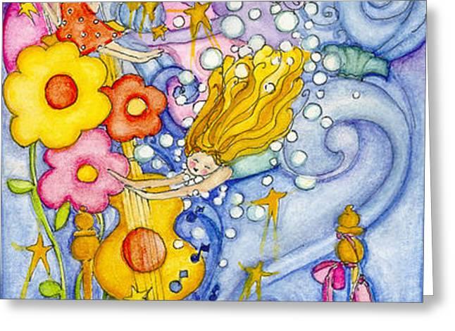 Girl Dreaming Greeting Card by Barbara Esposito