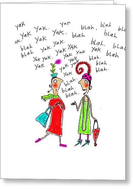 Girl Talk Greeting Cards - Girl Talk Greeting Card by Karon Melillo DeVega