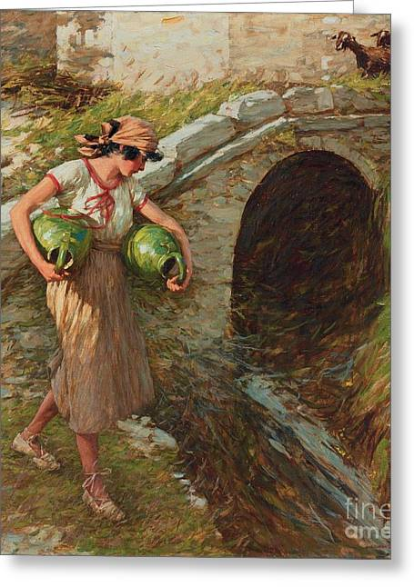 Thangue Greeting Cards - Girl with Jars Greeting Card by MotionAge Designs