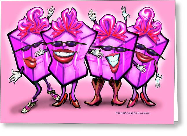 Humor Greeting Cards - Girls Day Out Greeting Card by Kevin Middleton