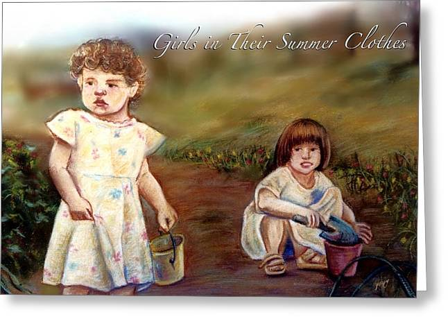 Bruce Springsteen Pastels Greeting Cards - Girls in Their Summer Clothes Greeting Card by Mary Fanning