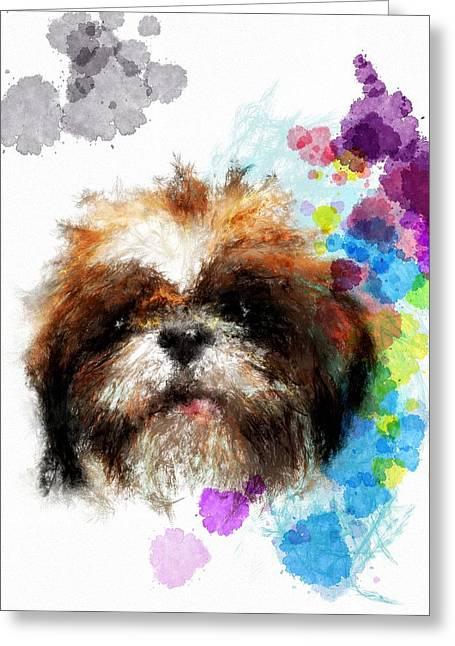 Puppies Digital Greeting Cards - Girls just wann have fun Greeting Card by Richard Okun
