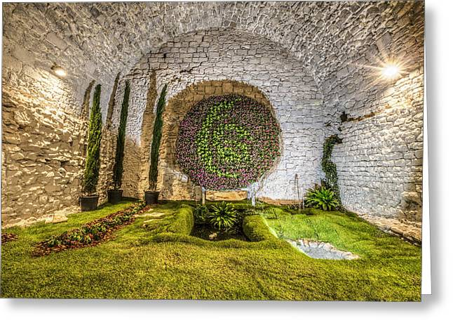 Basement Greeting Cards - Girona Cathedral Basement in Catalonia Greeting Card by Marc Garrido