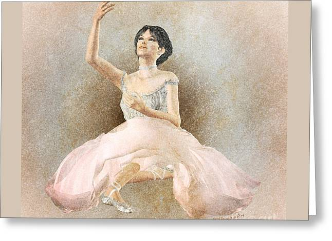 Prima Ballerina Digital Art Greeting Cards - Giselle Greeting Card by Methune Hively
