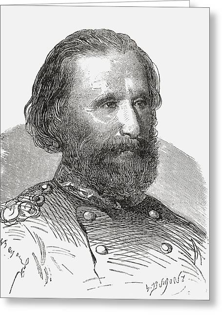 Political Figures Greeting Cards - Giuseppe Garibaldi, 1807 To 1882. 19th Greeting Card by Ken Welsh