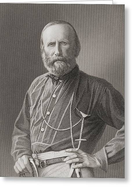 Political Figures Greeting Cards - Giuseppe Garibaldi, 1807 To 1882 Greeting Card by Ken Welsh