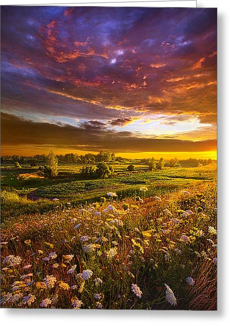 Give Me A Reason To Believe Greeting Card by Phil Koch