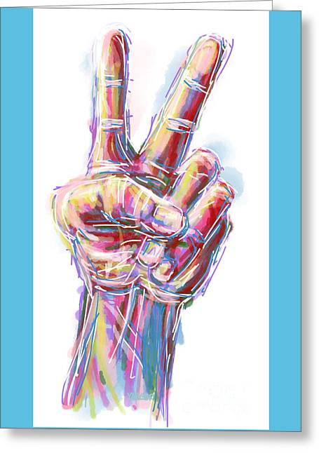 Equality Drawings Greeting Cards - Give Peace a Chance Greeting Card by Robert Yaeger