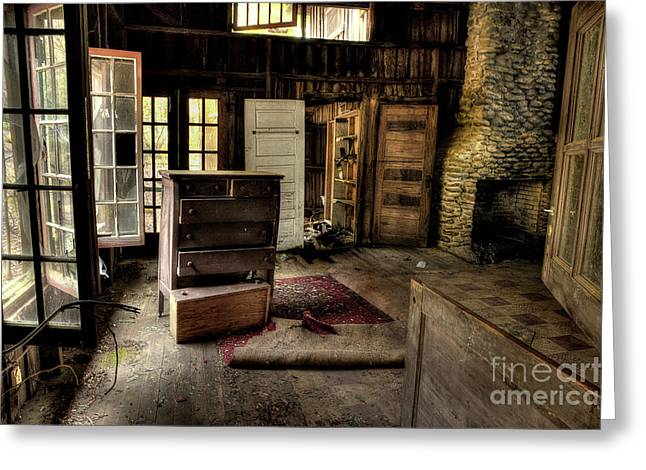 Abandoned Houses Greeting Cards - Given Up Greeting Card by Michael Eingle