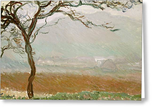 Signature Greeting Cards - Giverny Countryside Greeting Card by Claude Monet