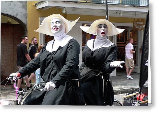 Nola Photographs Greeting Cards - Givin Nun Gettin Nun Greeting Card by Joy Tudor