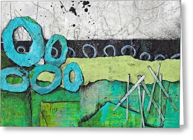 Gestures Mixed Media Greeting Cards - Giving  Greeting Card by Laura  Lein-Svencner