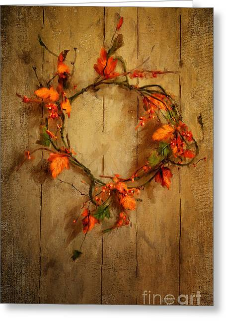 Barn Door Digital Greeting Cards - Giving Thanks Greeting Card by Lois Bryan