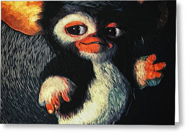 Portrait Of Evil Greeting Cards - Gizmo Greeting Card by Taylan Soyturk