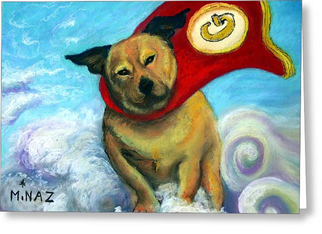 Heroes Pastels Greeting Cards - Gizmo The Great Greeting Card by Minaz Jantz