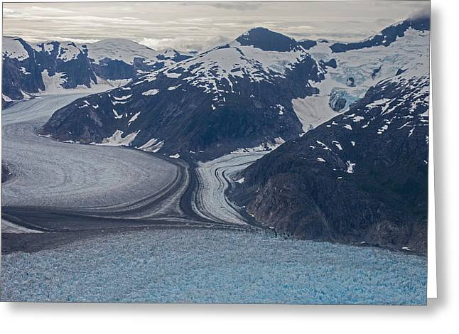Glacial Curves Greeting Card by Mike Reid