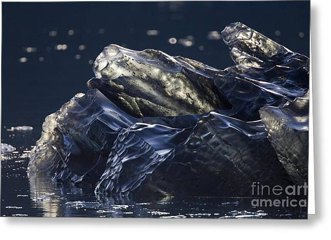 Prince William Sound Greeting Cards - Glacial Ice Greeting Card by Tim Grams