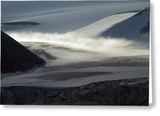 Mystical Landscape Greeting Cards - Glacial Mist  Greeting Card by Joanna Patterson