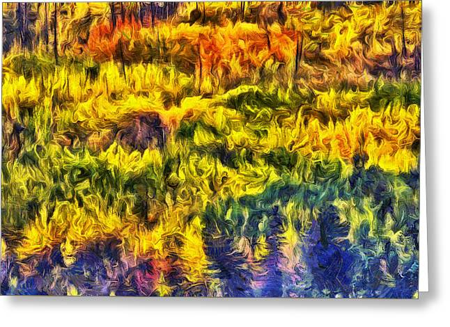 Glacier Greeting Cards - Glacier Fall Abstract Greeting Card by Mark Kiver