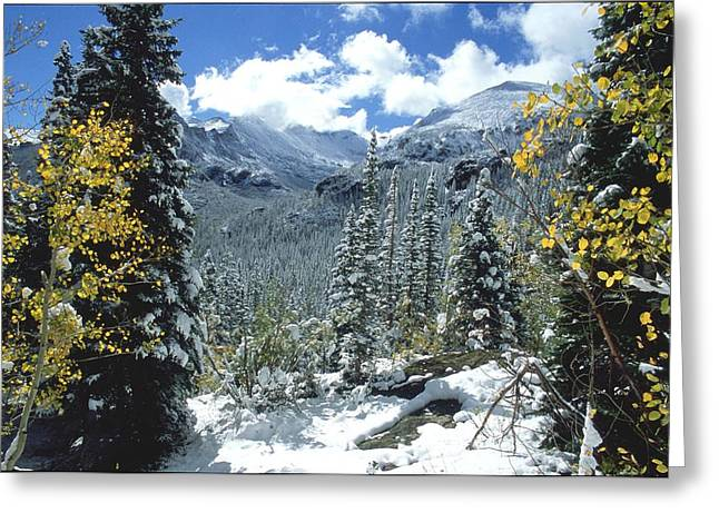 Mills Glacier Greeting Cards - Glacier Gorge Greeting Card by Eric Glaser