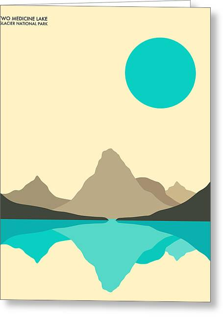Landforms Greeting Cards - Glacier National Park Greeting Card by Jazzberry Blue