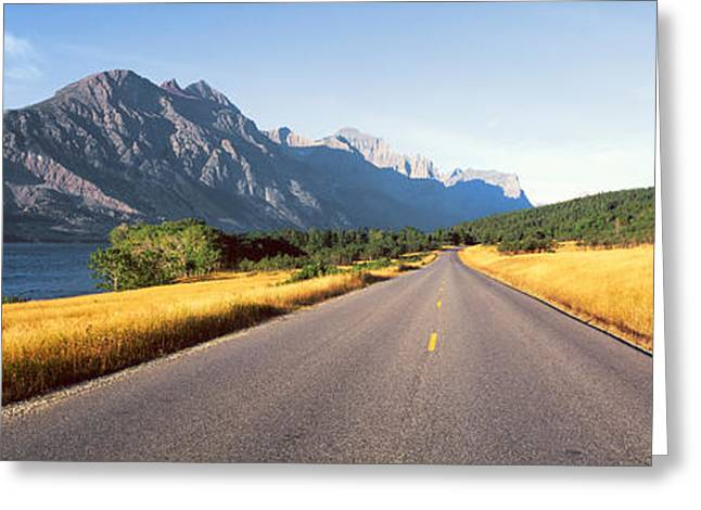 Scenic Highway Greeting Cards - Glacier National Park, Montana Greeting Card by Panoramic Images