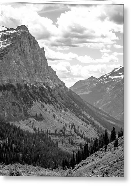 Weeping Greeting Cards - Glacier National Park - Peak Greeting Card by Rachel Bellesen
